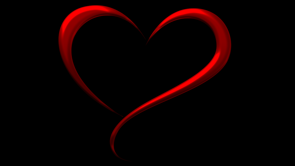 Red Stylized Heart On Black Background Deming S First United